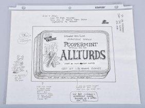 Vintage Wacky Packages Original Concept Sketch