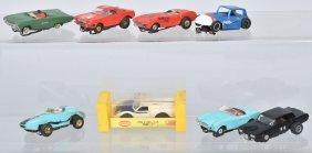 8-vintage Aurora Slot Car Parts Lot