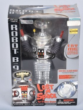 Chrome Lost In Space Robot B-9 Mib
