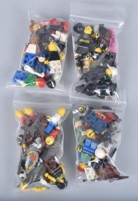 Lot Of 100 Lego Figures & Accessories