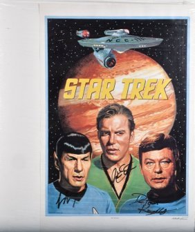 Signed Star Trek Print Le 14/3000