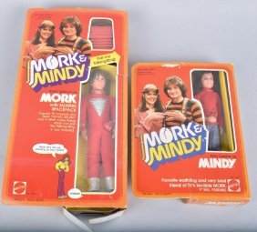 Matel Taking Mork And Mindy Doll In Boxes1979
