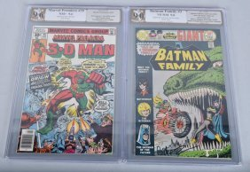 Pgx Batman Family #3 & Marvel Premier #35 Signed