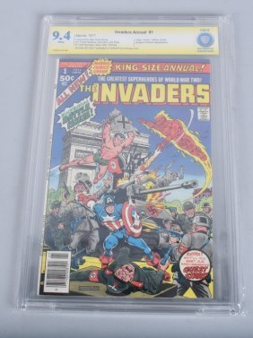 Cbcs Graded Invaders #1 Signed By Roy Thomas