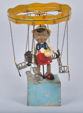 1950s Jouets Creation Pinocchio Carousel