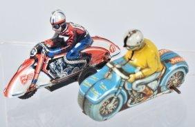 Two German Tin Motorcycles