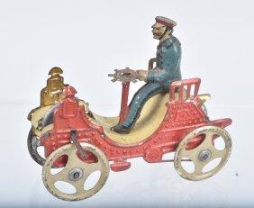 German Tin Fly Wheel Nickle Toy Vis A Vis