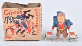 Japan Windup Circus Monkey W/ Box
