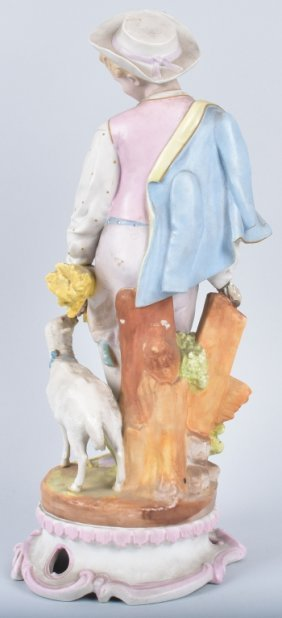 Large Bisque Figure With Lamb