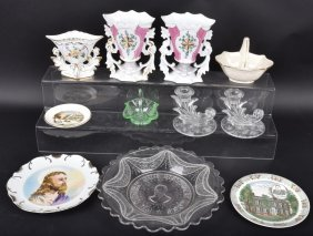 Lot Of Misc. Glassware, Garfield Plate & More