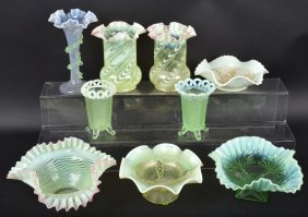 Lot Of Opalescent Glass & More
