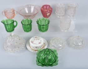 Large Lot Of Glass, Depression & More