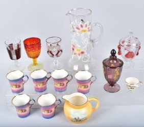 Large Lot Of Vintage Glass And China