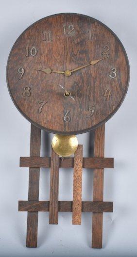 Sessions Mission Oak Wall Clock