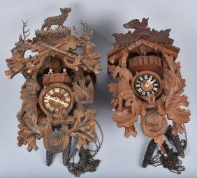 Lot Of 2 German Cuckoo Clocks