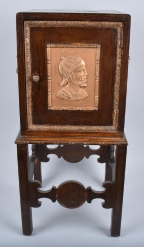 Antique Humidor Cabinet Stand