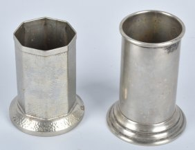 2- Cecilware Nickle-silver Straw Holders