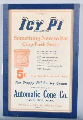 Early Icy Pi Advertising Ice Cream Sign
