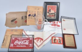 Lot Of Coca Cola Promotional Items