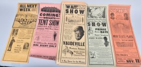 Early Minstrel, Wild West, & Circus Broadsides