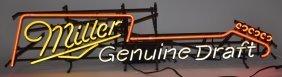 Miller Genuine Draft Guitar Neon Sign