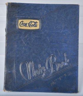 1941 Coca Cola Note Book Cover