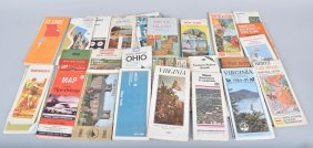 Large Lot Of Gas Station Advertising Maps