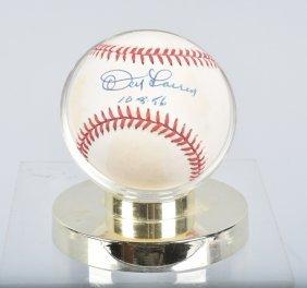 Don Larson Autographed Baseball