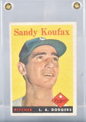 1958 Topps #187 Sandy Koufax Baseball Card