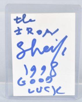 1995 Wwf Wrestling Iron Sheik Autograph Card