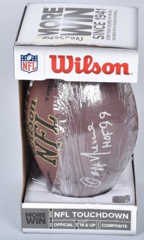 Ozzie Newsome Autographed Football W/cert
