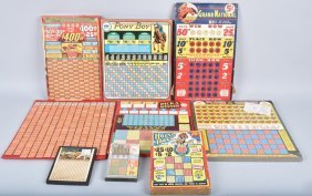Lot Of Horse Race Sweepstakes Punch Games
