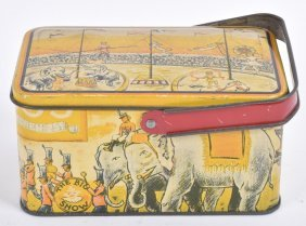 Early Tin With Circus Graphics