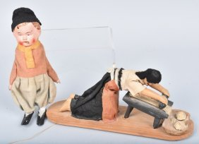Early German Squeaker & Native Woman