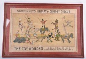 Schoenhut Humpty Dumpty Circus Box Lid