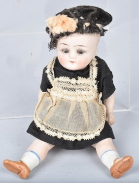 German All Bisque Jointed Doll