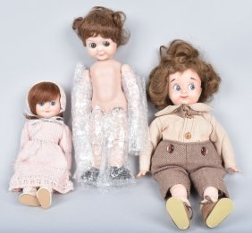 Three Bisque Googly Artist Dolls