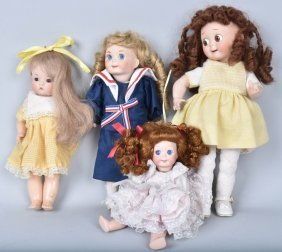Four Bisque Artist Dolls Inc. Googlies
