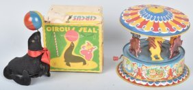 Boxed Circus Seal & Merry-go-round
