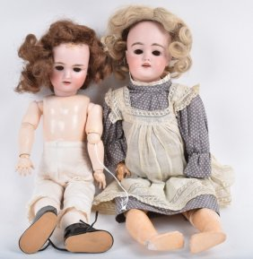 Lot Of 2 German Bisque Dolls