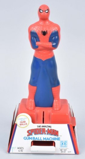 1980 Amazing Spiderman Gumball Machine Mib