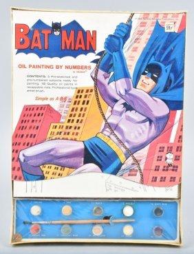 1965 Hasbro Batman Paint By Number Set Sealed