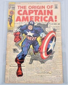 Marvel Captain America #109 Key Capts. Origin