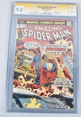 Amazing Spiderman #152 Cgc 9.8 Signed By Stan Lee