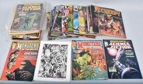 38- 1970s Horror & Sci-fi Comic Magazines