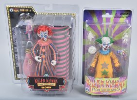 2- Killer Klowns From Outer Space Figure Mib