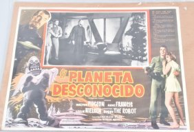 Forbidden Planet Lobby Card In Spanish