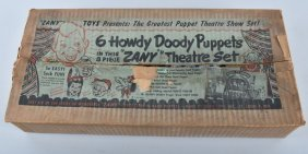 6 Howdy Doody Puppets Theater Set W/box