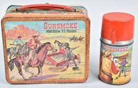Gunsmoke Lunch Box And Thermos