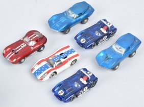 Vintage Tyco Ho Slot Cars Group Of 6